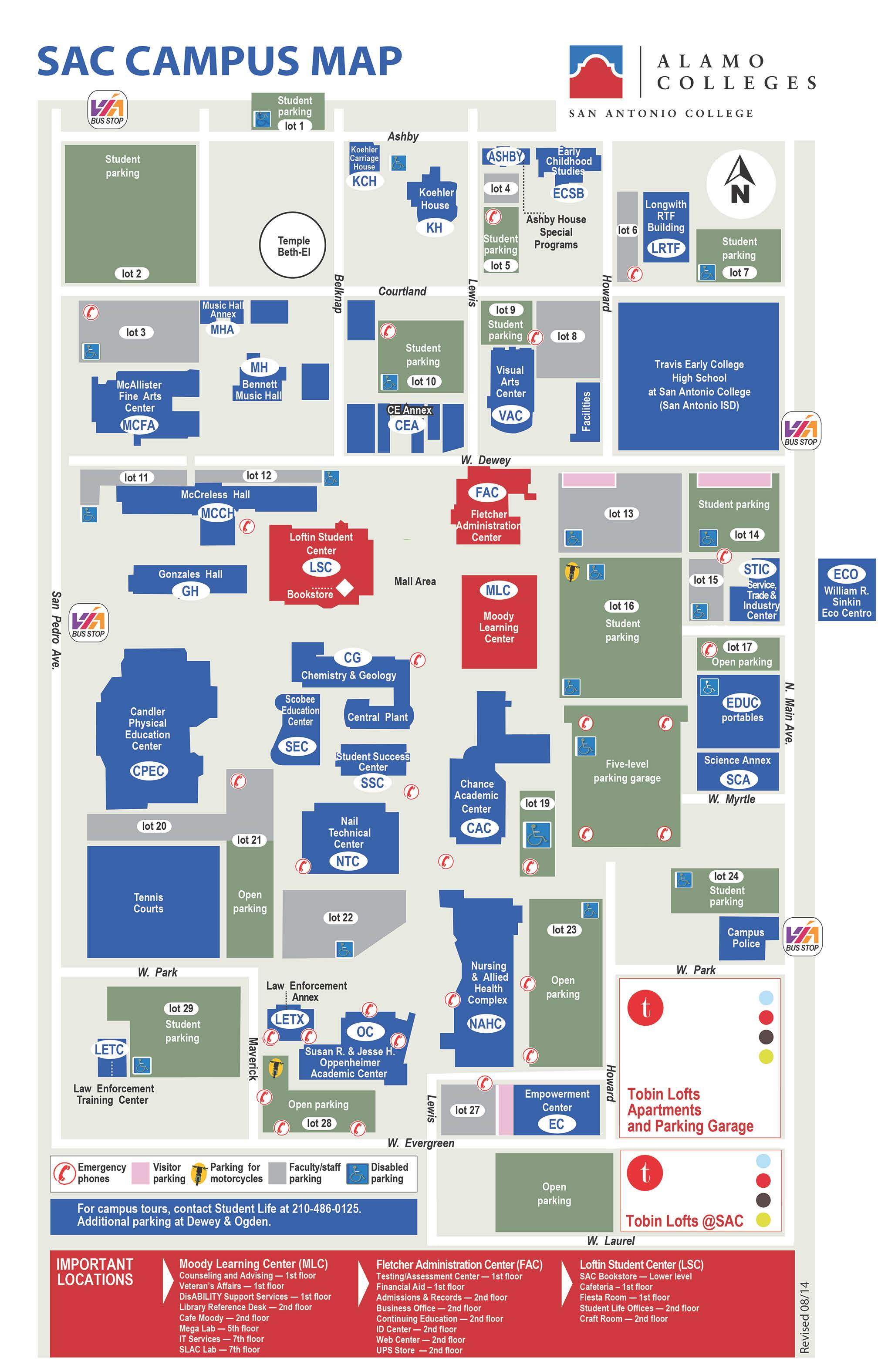 Locations and Maps San Antonio College Acalog ACMS™
